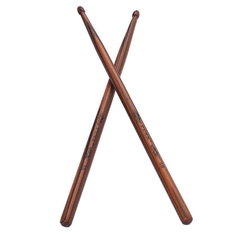 One Pair of 5B Wooden Drumsticks Drum Sticks Maple Wood Drum Set Accessories
