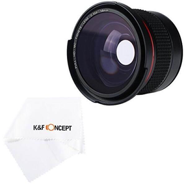 K & F Concept 58 Mm Lensa Kamera 0.35X HD Super Profesional Mata Ikan Sudut Lebar Lensa W/Makro Close Up untuk Canon Nikon kamera Digital-Internasional