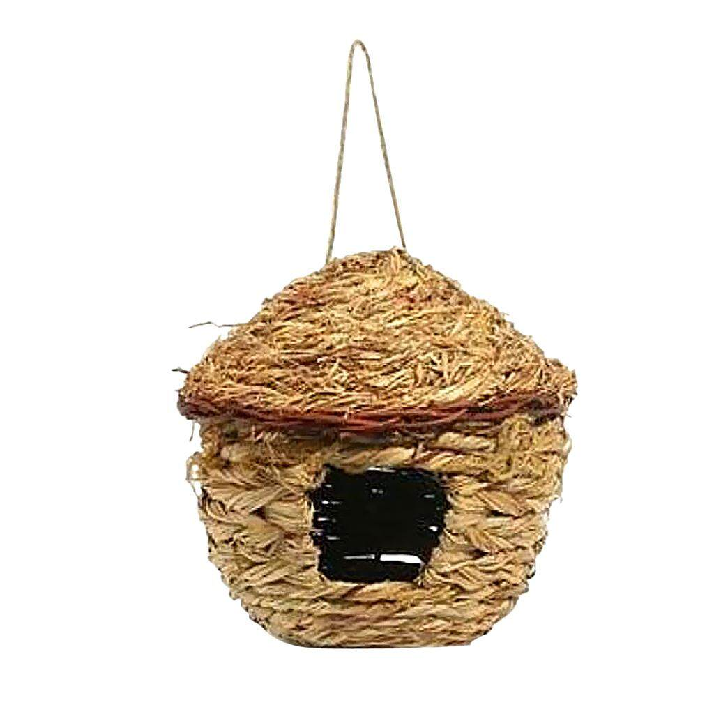 Dolity Handwoven Straw Bird Nest House Hatching Breeding Grass Cave E Grass House S