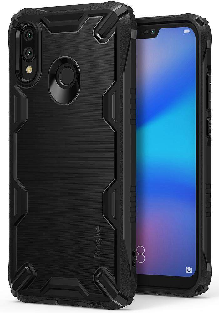 Huawei P20 Lite / Nova 3e Case, Ringke [ONYX-X] Impact Resistant Rugged TPU Grip [Heavy Duty Protection] Flexible Reinforced Corner Shock Absorbent Combatant Stroked Line Anti Slip for Huawei P20 Lite (2018) / Nova 3e - intl
