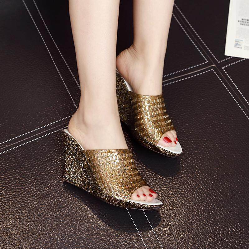 2018 New Summer Platform Heels Sandals Women Open Toe Thick High Heels Shoes Soft Leather Comfort Sandals For Women By Anron C.