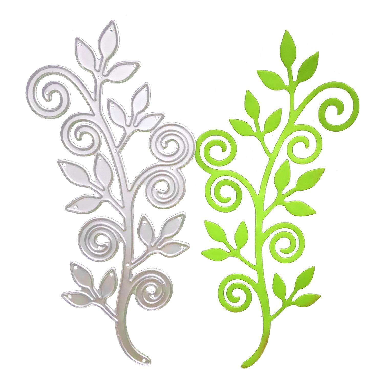 Fitur Bunga Yang Indah Hiasan Timbul Cutting Dies Stensil Template