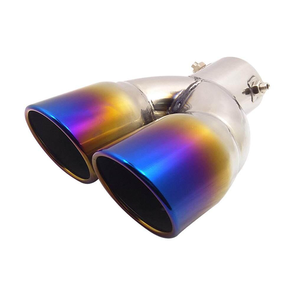 1 Pcs Universal Mobil Lurus Baja Anti Karat 1to2 Pipa Knalpot Muffler Penataan Penutup Mobil untuk