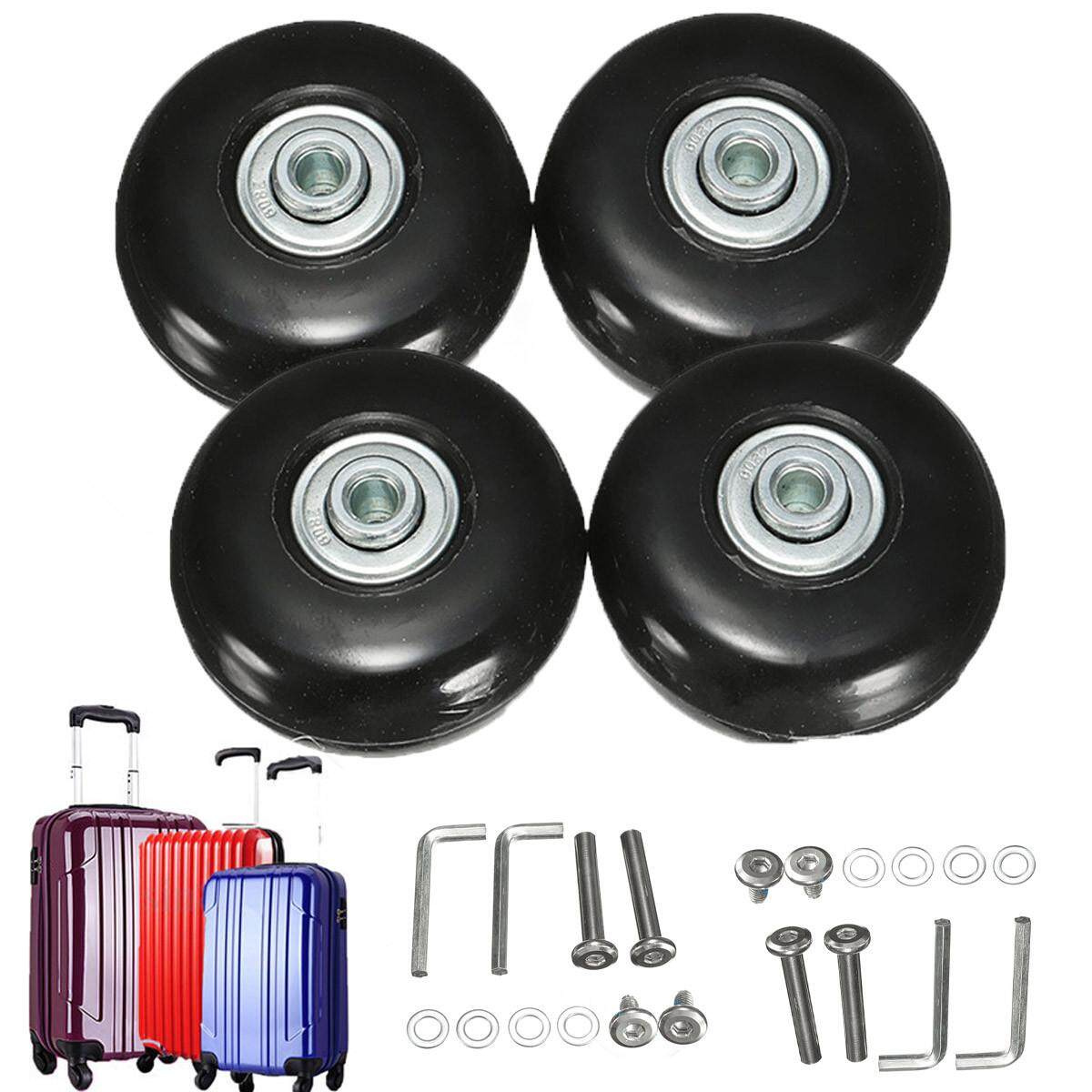 2 Sets Rubber Luggage Suitcase Wheels Replacement Axles Deluxe Repair Od 55mm By Audew.