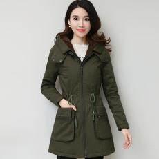 Yi Yi Xiu Tambah beludru baju katun baju wanita model setengah panjang 2018  pakaian musim dingin e98494c48e