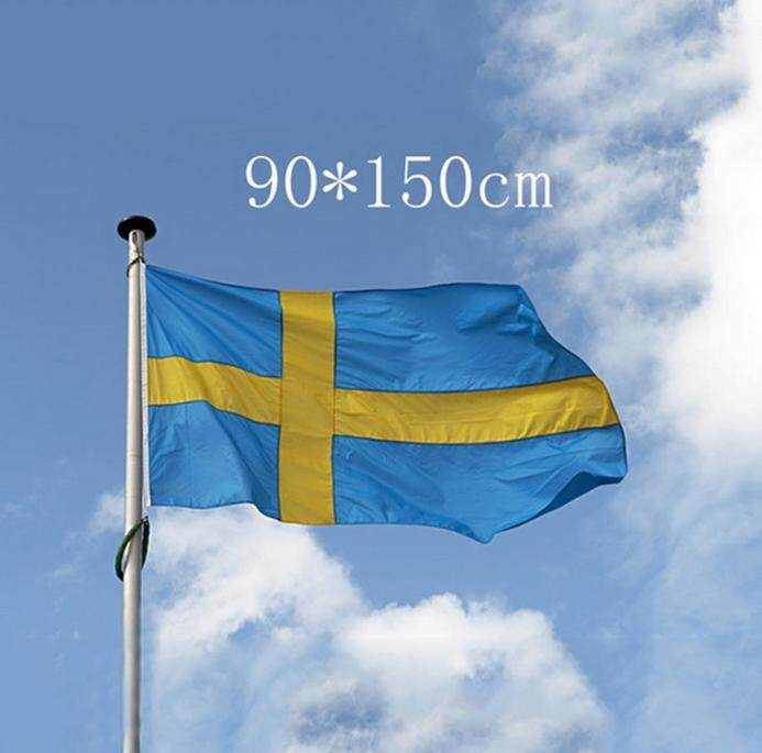 Fanestiy Bendera Swedia 3X5 3X5 Baru Spanduk Swedia 3FT 5FT
