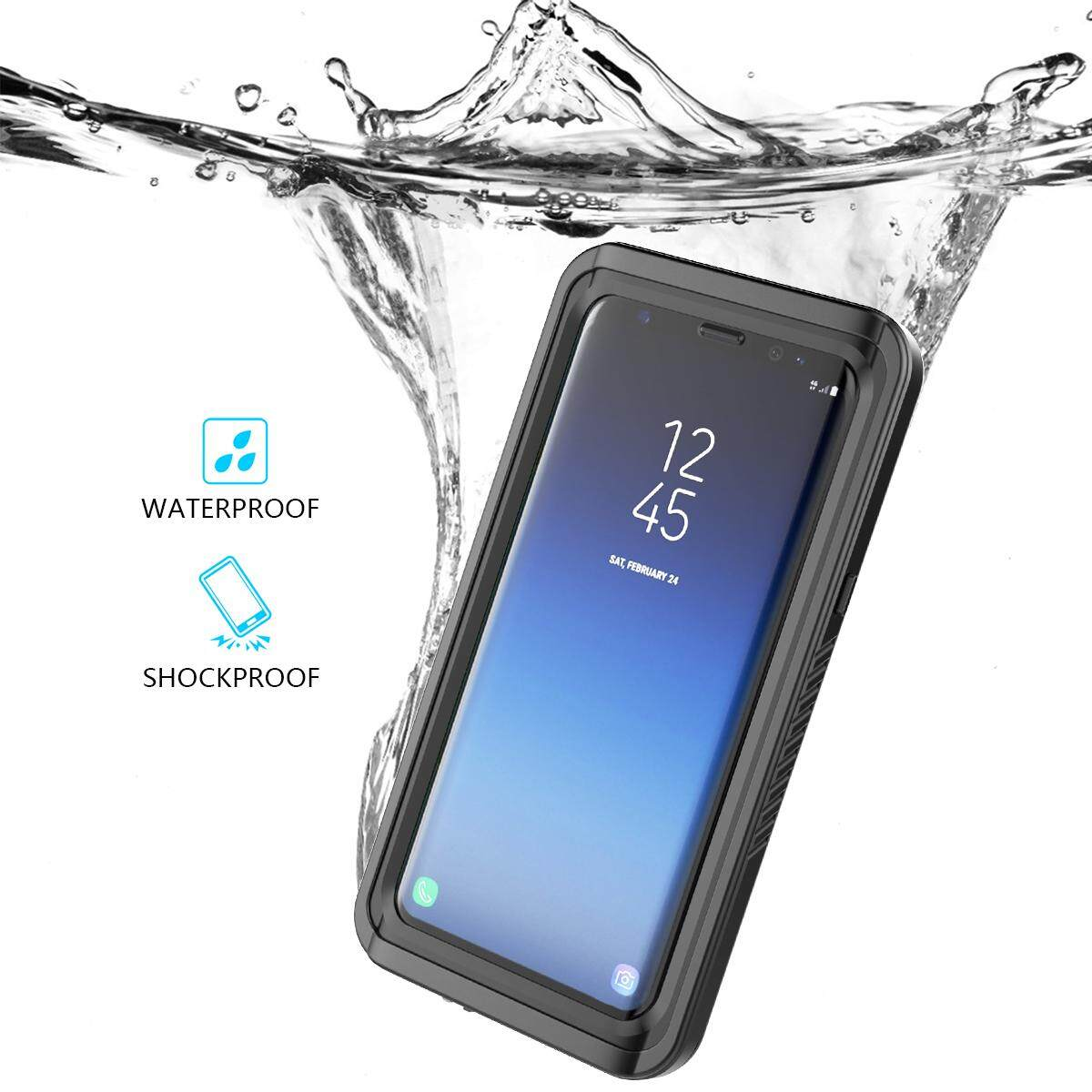 Gambar Produk Rinci Moonmini Case Cover for Samsung Galaxy S9 Plus Ultra-slim 360 Degree Protection Case Waterproof Dustproof Shell with Buoyancy Lanyard ...