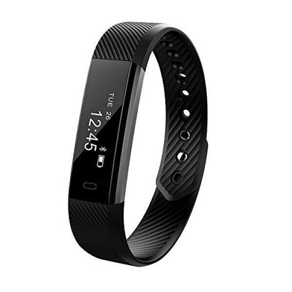 Pelacak Kebugaran, Vanzon Aktivitas Tracker Smartwatch dengan Pedometer Penghitung Kalori dan Monitor Tidur untuk Android dan IOS Smartphone bagus Chrismas Hadiah untuk Anak-anak Wanita dan Pria-Hitam-Intl