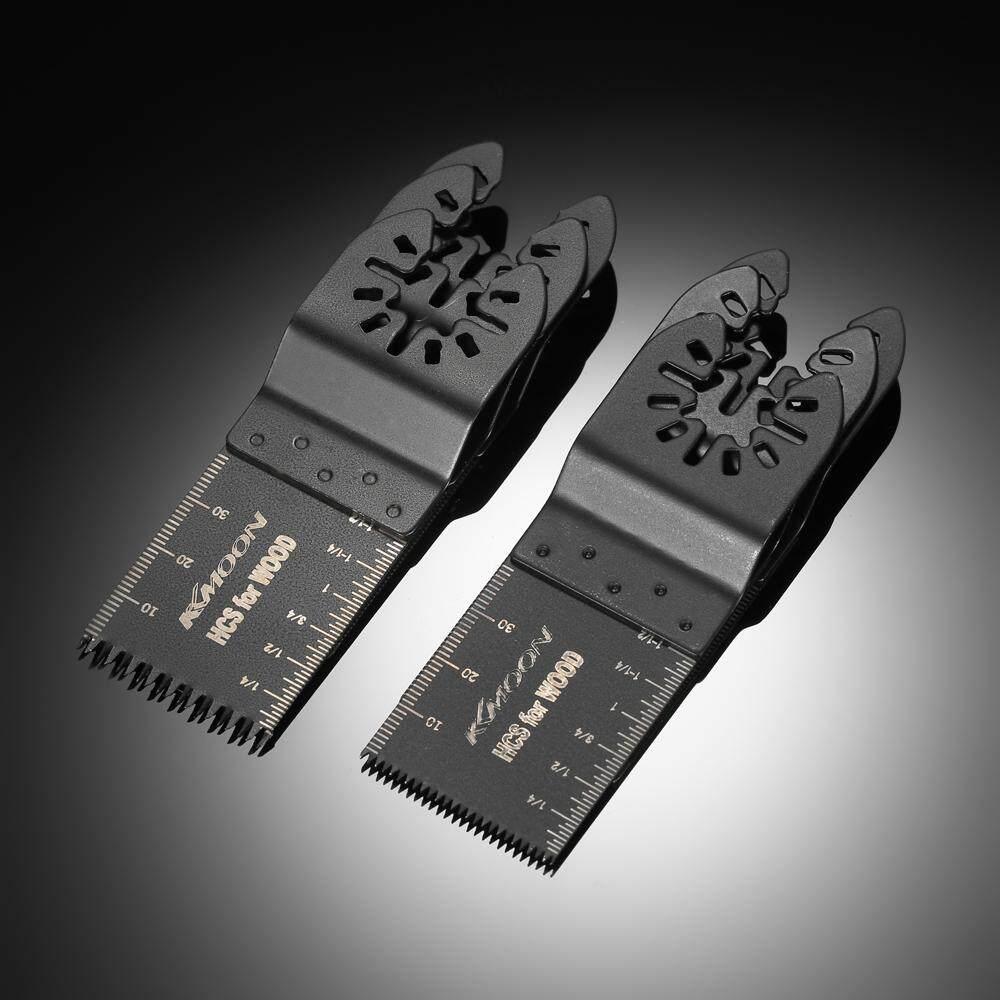 KKmoon 6pcs Wood Oscillating Multi Tool Quick Release Saw Blade for Fein Multimaster Makita Bosch Craftsman