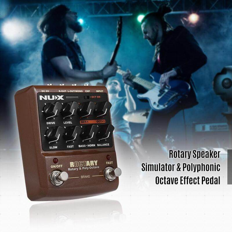NUX ROCTARY FORCE 2-in-1 Rotary Speaker Simulator & Polyphonic Octave Guitar Effect Pedal True Bypass Malaysia
