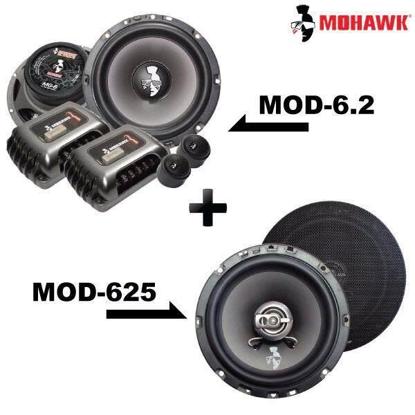 """2in1 Package - MOHAWK DIAMOND MOD-6.2 6.5"""" 2-Way Component Speaker + MOD-625 6.5"""" 2-Way Coaxial Speaker Set"""