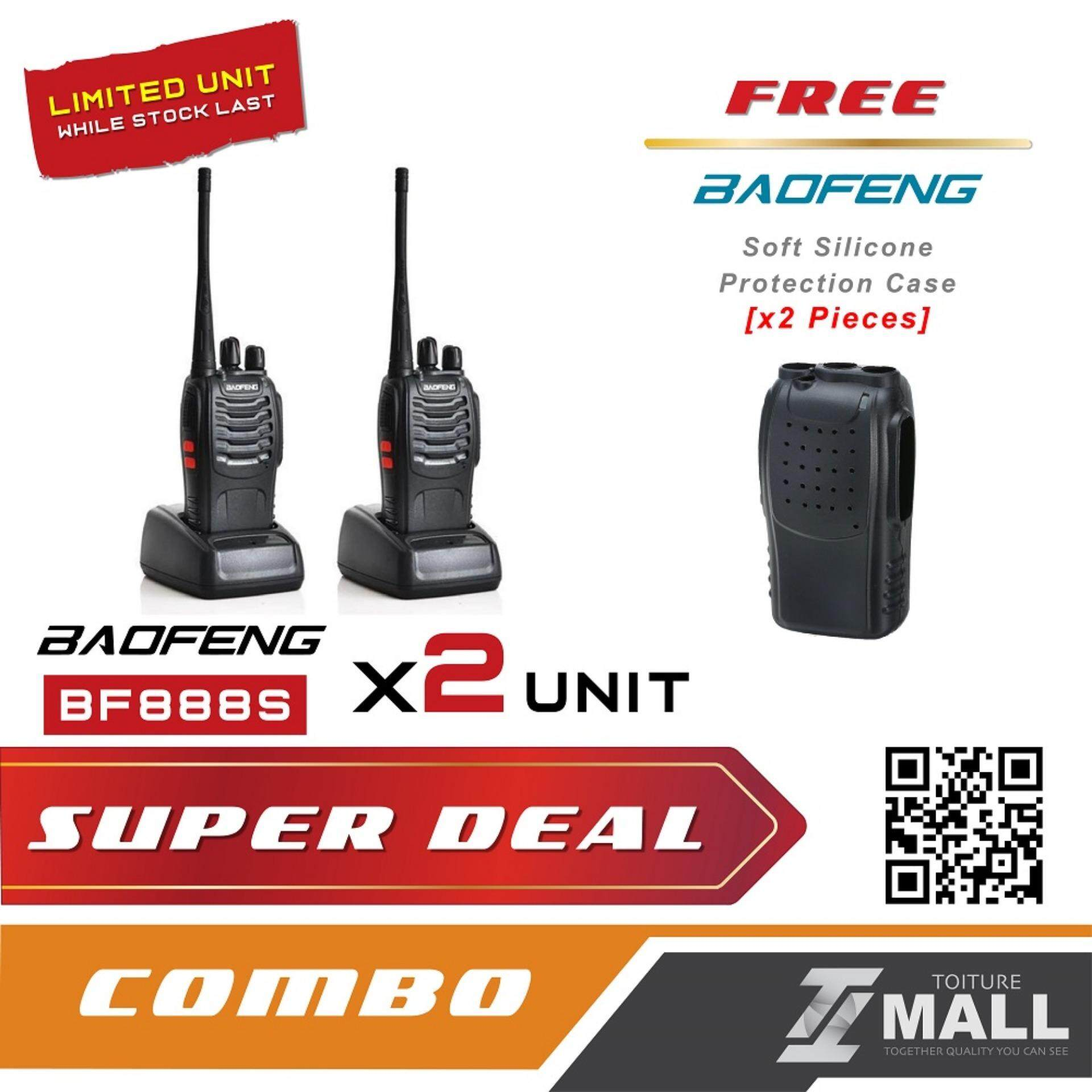 BAOFENG BF-888S Walkie Talkie Two-way Portable CB Radio [2 UNIT] + FREE Silicone Case [2 UNIT]