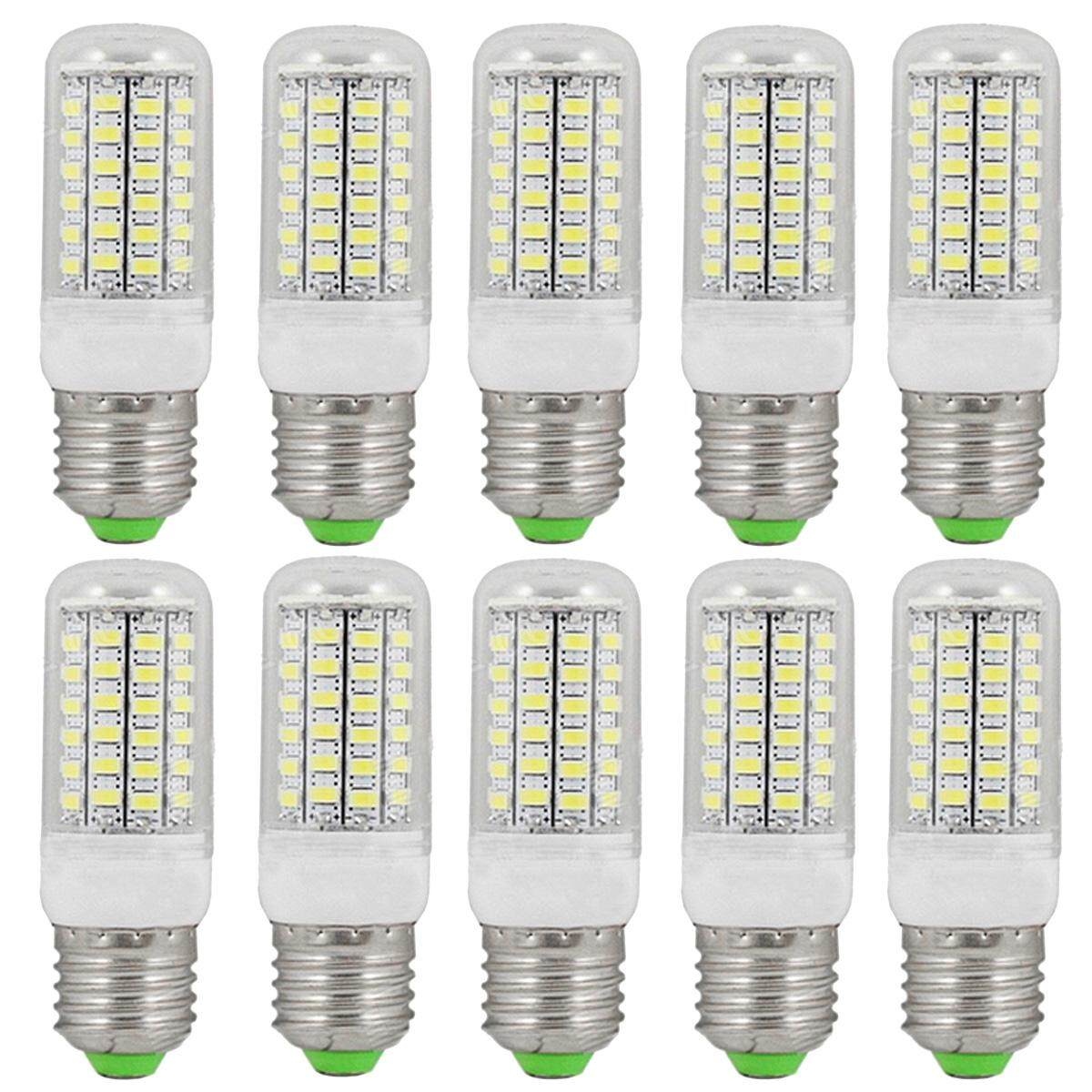 E27 12W 1800lm 69-SMD 5730 Cold White LED Corn Bulbs (220~240V/10PCS) - intl
