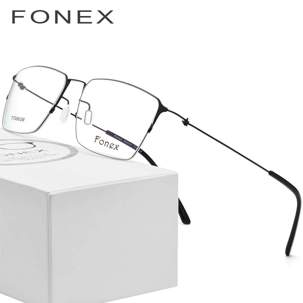 e711bdddbbc FONEX 2017 Screwless Eyewear Korean Glasses Frame Men Rimless Titanium  Alloy Prescription Eyeglasses Myopia Optical Frames