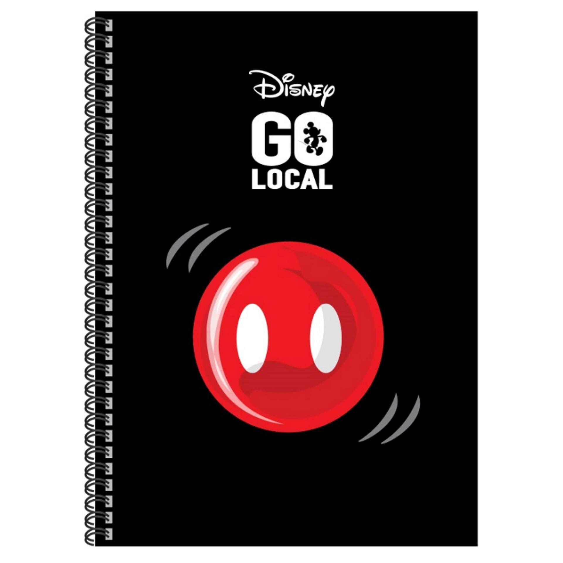 Disney Mickey Go Local A5 Hard Cover Notebook - Black Mickey