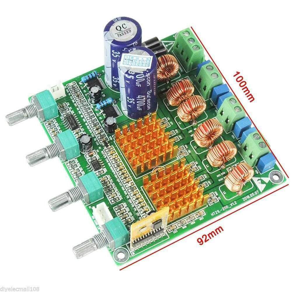 Shop Home Audio Amplifiers Av Receivers Buy China Digital Fm Receiver Circuit Board Assembly Production Lissng 1pc Bluetooth 40 21 Class D Hifi Power Amplifier Supper Bass Case