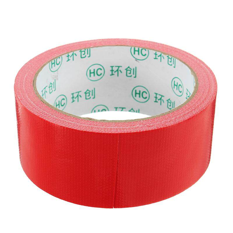 【Free Shipping】Red Cloth Duct Tape PE Coated Waterproof Strong Adhesive Carpet Tape 2 Sizes