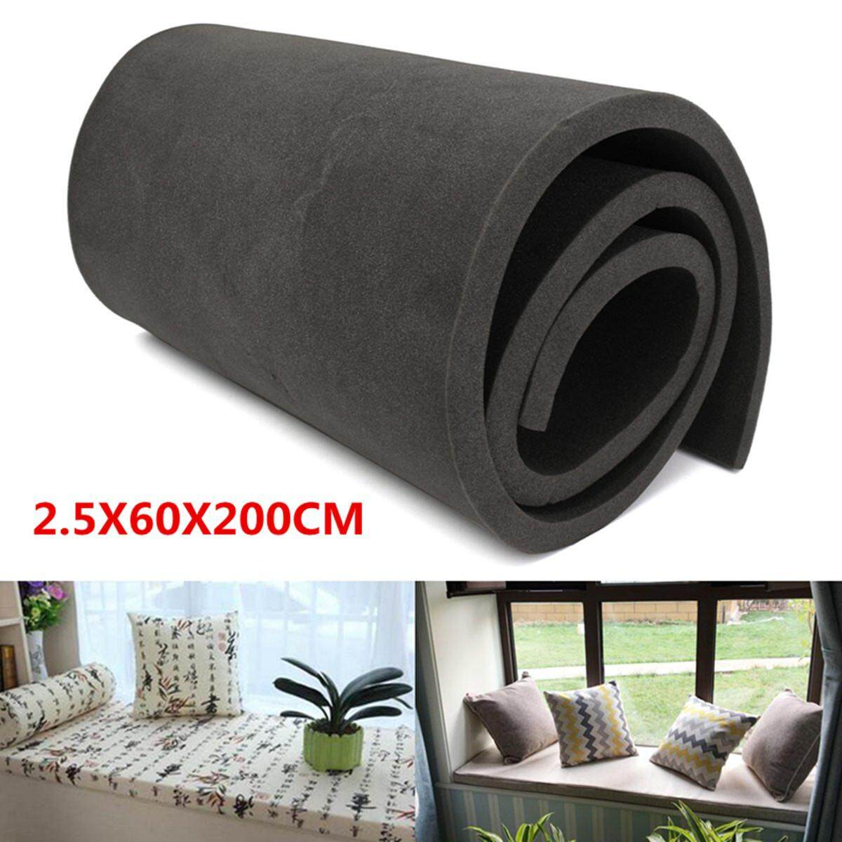 Black High Density Seat Firm Polyurethane Foam Rubber Replacement 2.5X60X200CM