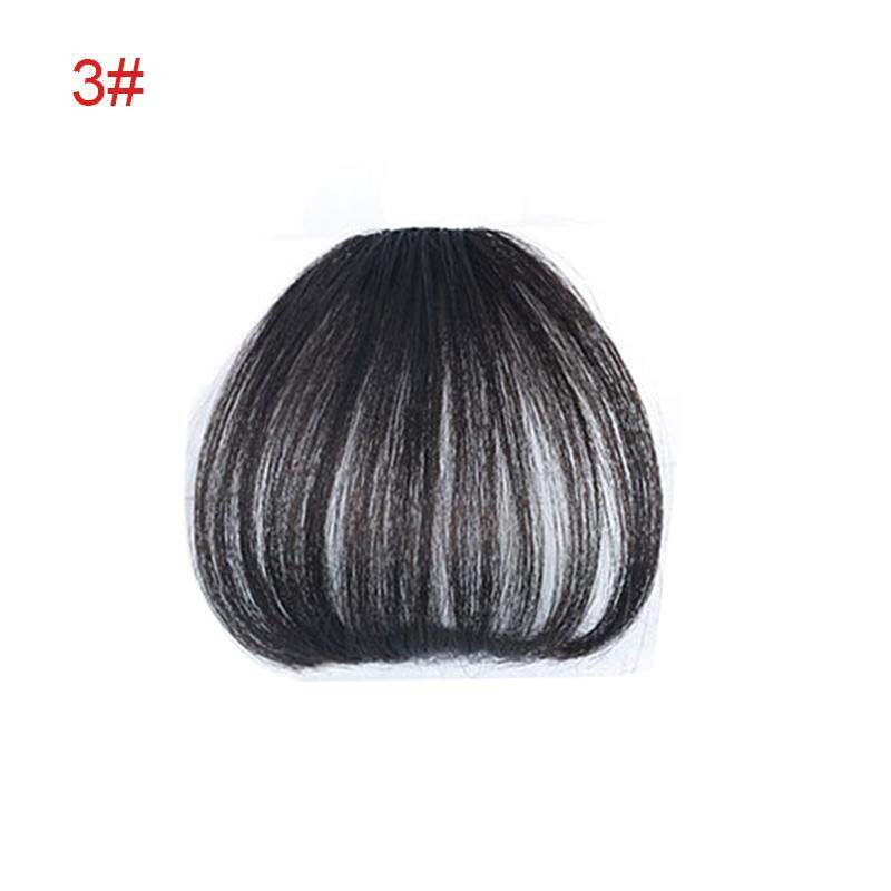 One Piece Clip in Hair Bangs Fringe Extensions Synthetic Fiber Hairpiece for Women Girl - intl