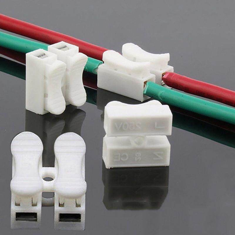 30 Pcs Electrical Cable Connectors Quick Splice Lock Wire Terminals Self Locking