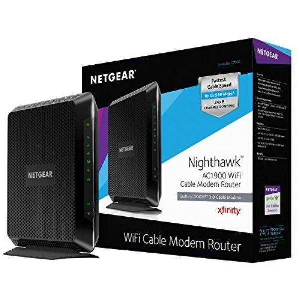 NETGEAR Nighthawk AC1900 DOCSIS 3.0 WiFi Cable Modem Router Combo Certified for Xfinity from Comcast, Spectrum, Cox, & more - intl