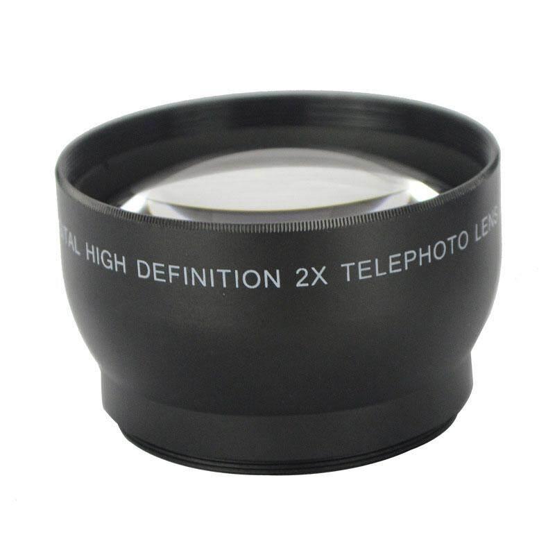 Bestprice-52mm 2x Telephoto Lensa Tele Konverter untuk Nikon D5100 D3200 D70 D40 DSLR Kamera-Internasional