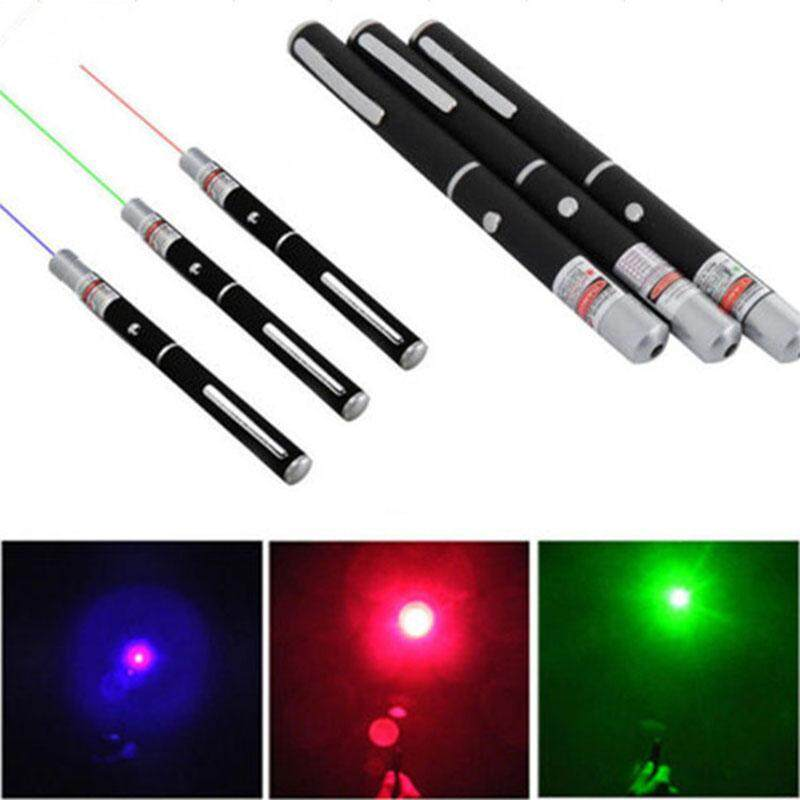 Hiqueen 3PCS 5MW Red Green Purple Light Single-point Laser Pointer Pen for Teaching Tour Guide Conference Exhibition