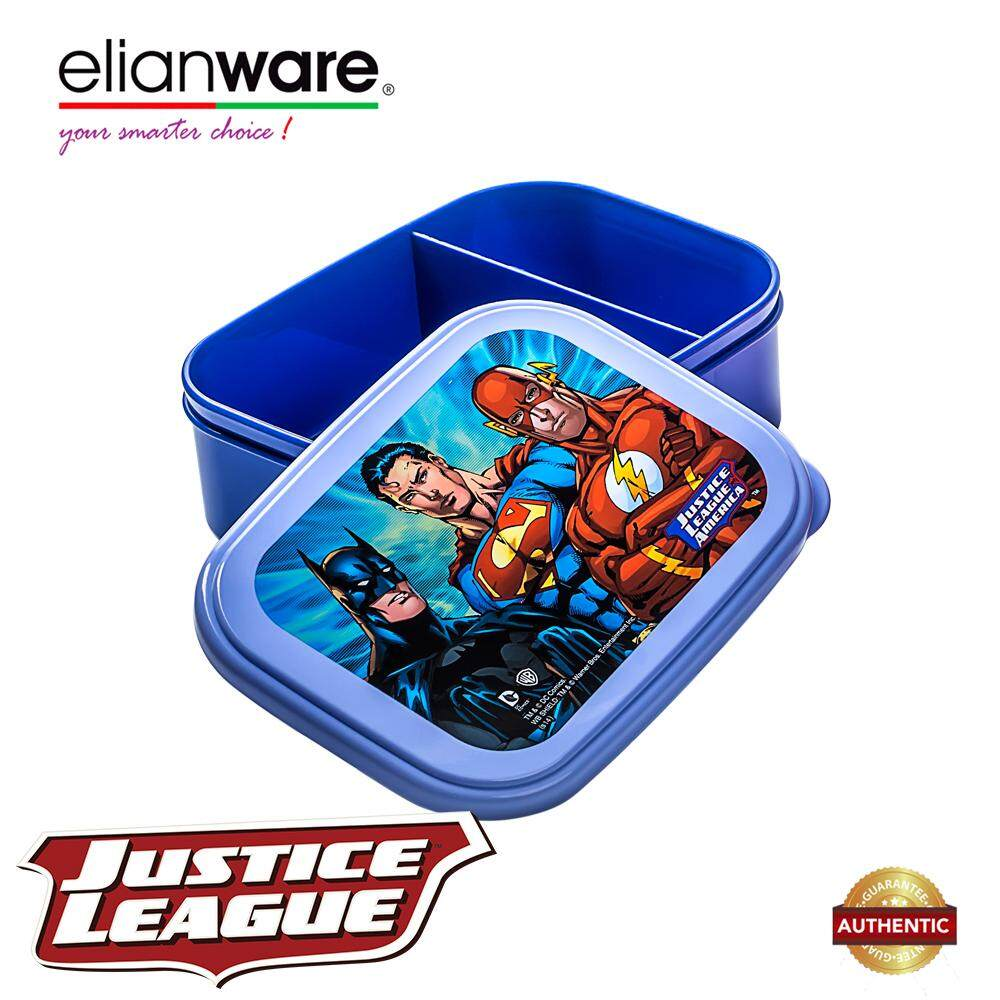 Elianware DC Justice League 2 Compartments BPA Free 750ml Food Container