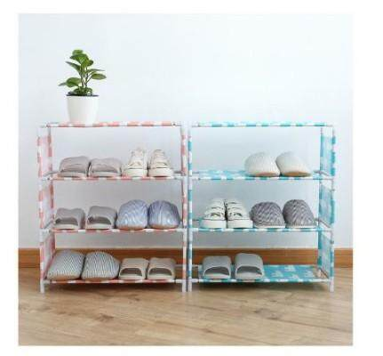Waterproof Canvas DIY Shoe Rack - 2 Tier / 3 Tier