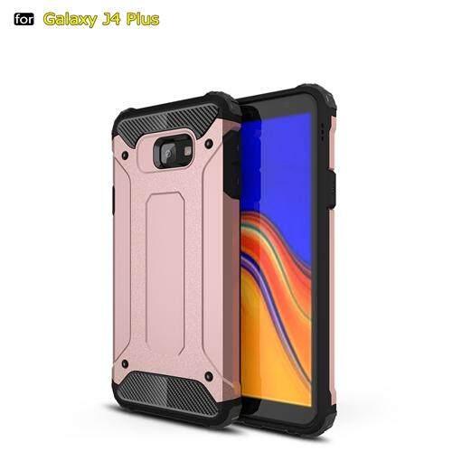 Untuk Samsung Galaxy J4 Plus Sarung Silikon Tahan Guncangan Slim Hard Sulit Karet Dual Layer Armor Case S untuk J4Plus Penutup Telepon Case