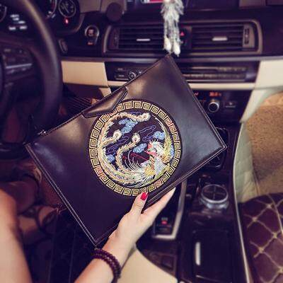 [PRE-ORDER] Women Chinese Envelope Ipad PU Leather Handbag