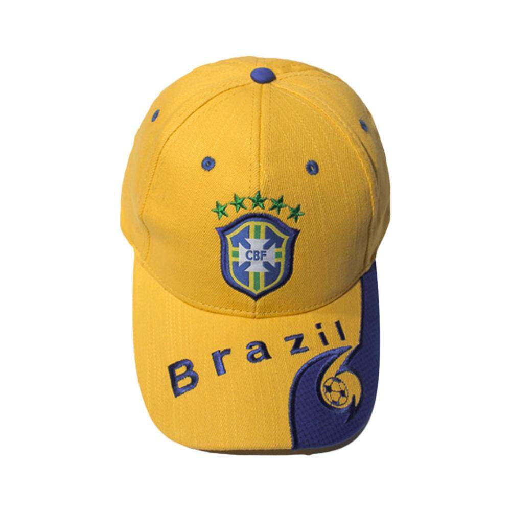 Sunyoo-2018 Russia World Cup Football Fans Hats Headband With Colorful National Flag Headwear Baseball Hat-Brazil Yellow - Intl By Sunyoo.