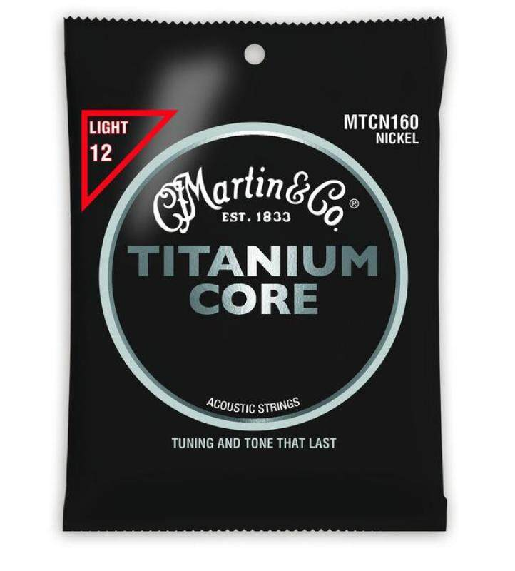 Martin MTCN160 Titanium Core Acoustic Guitar Strings, Light Tension 012-055 Malaysia