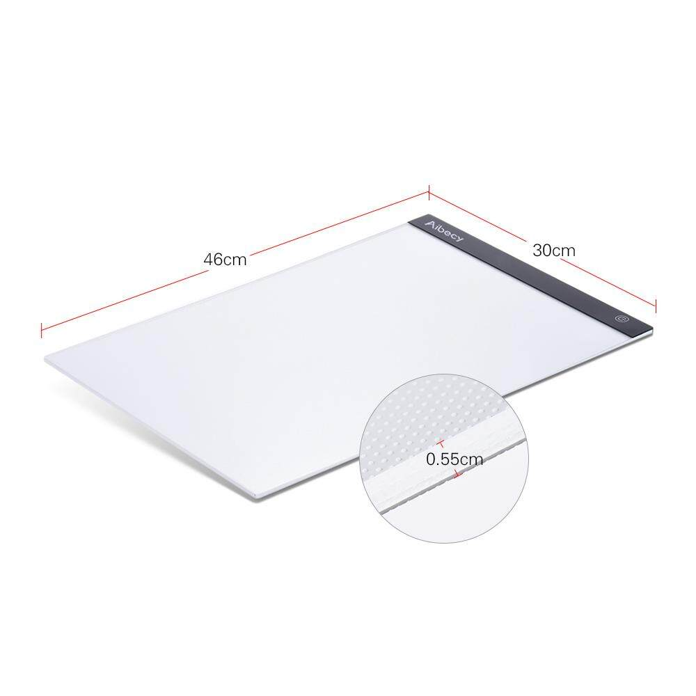 Aibecy Portable A3 Light Box Drawing Tracing Tracer Copy Board Table Pad Panel Copyboard with Memory Function Stepless Brightness Control for Artist Animation Tattoo Sketching Architecture Calligraphy Stenciling Diamond Painting - intl