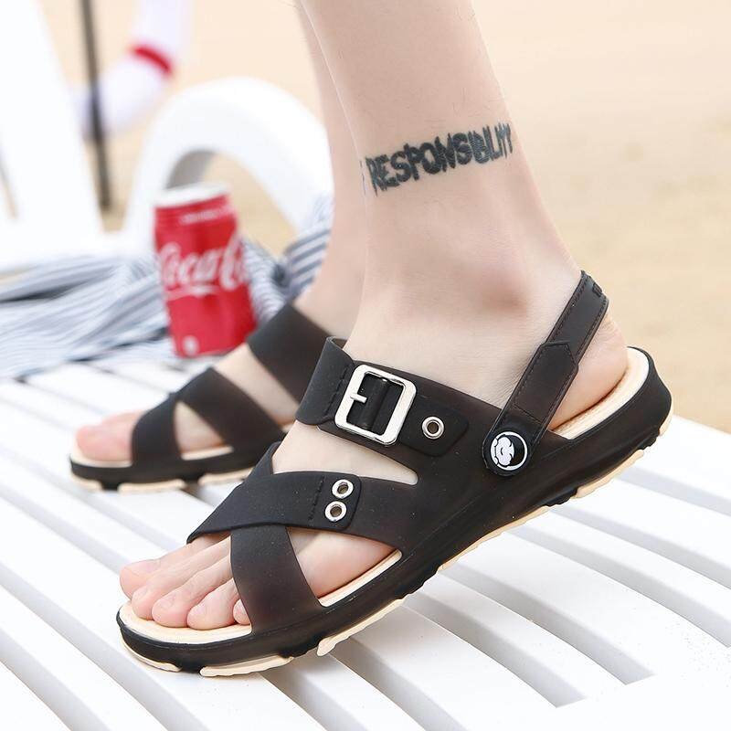 28e651efe16 2019 New Style Summer Men s Sandals Leisure Sandals Anti-slip Deodorizing  Students Sandals Dual Purpose