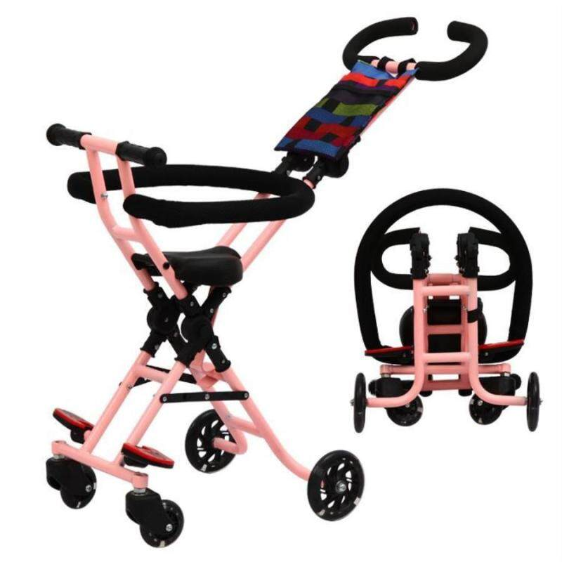 New Baby Trolley Childrens Tricycle Infant Trolley Portable Folding Baby With Baby Artifact. - intl Singapore