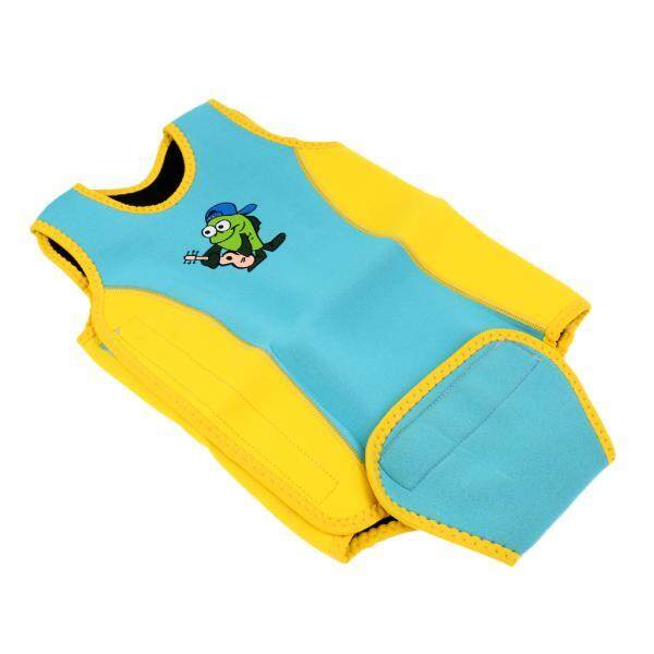 Magideal 2.5mm Neoprene Baby Toddler Child Swim Wetsuit Wrap Swimwear S Yellow Blue - Intl By Magideal.