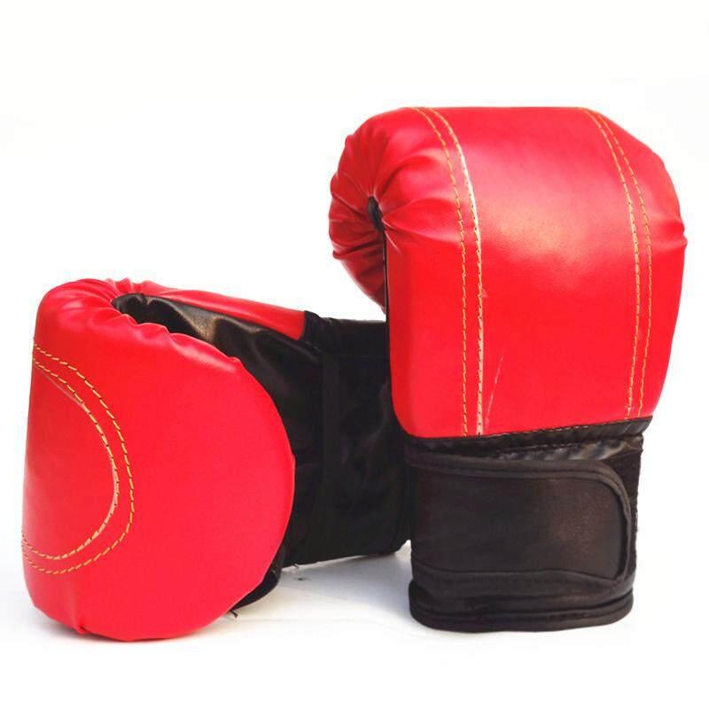 Kebugaran Dewasa Sarung Tangan Tinju Pergelangan Tangan Yang Dapat Disesuaikan PU Boxer untuk Bebas Pertempuran Kickboxing