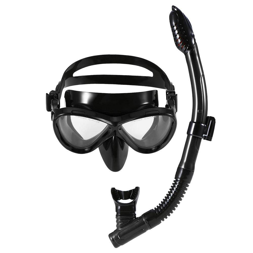Lixada Scuba Diving Mask Tube Set Snorkeling Mask Goggles Glasses Diving Swimming Easy Breath Dry Snorkel