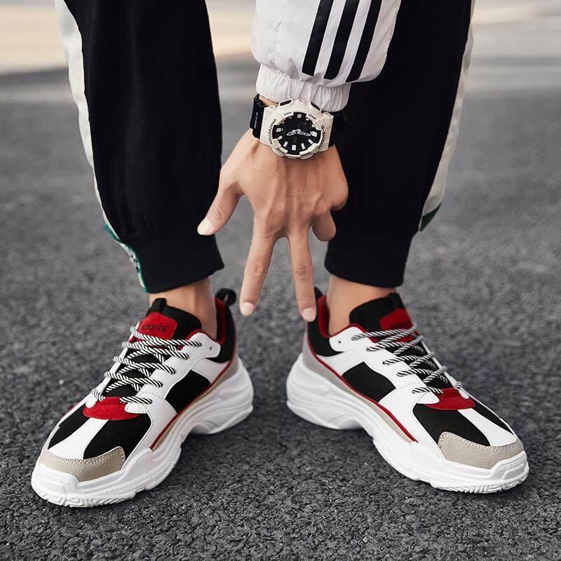 2018 musim gugur musim dingin sepatu pria di Super Api Sepatu netral Olah Raga Sepatu olah raga casual sepatu sneaker penambah tinggi OLdPAPA Sepatu