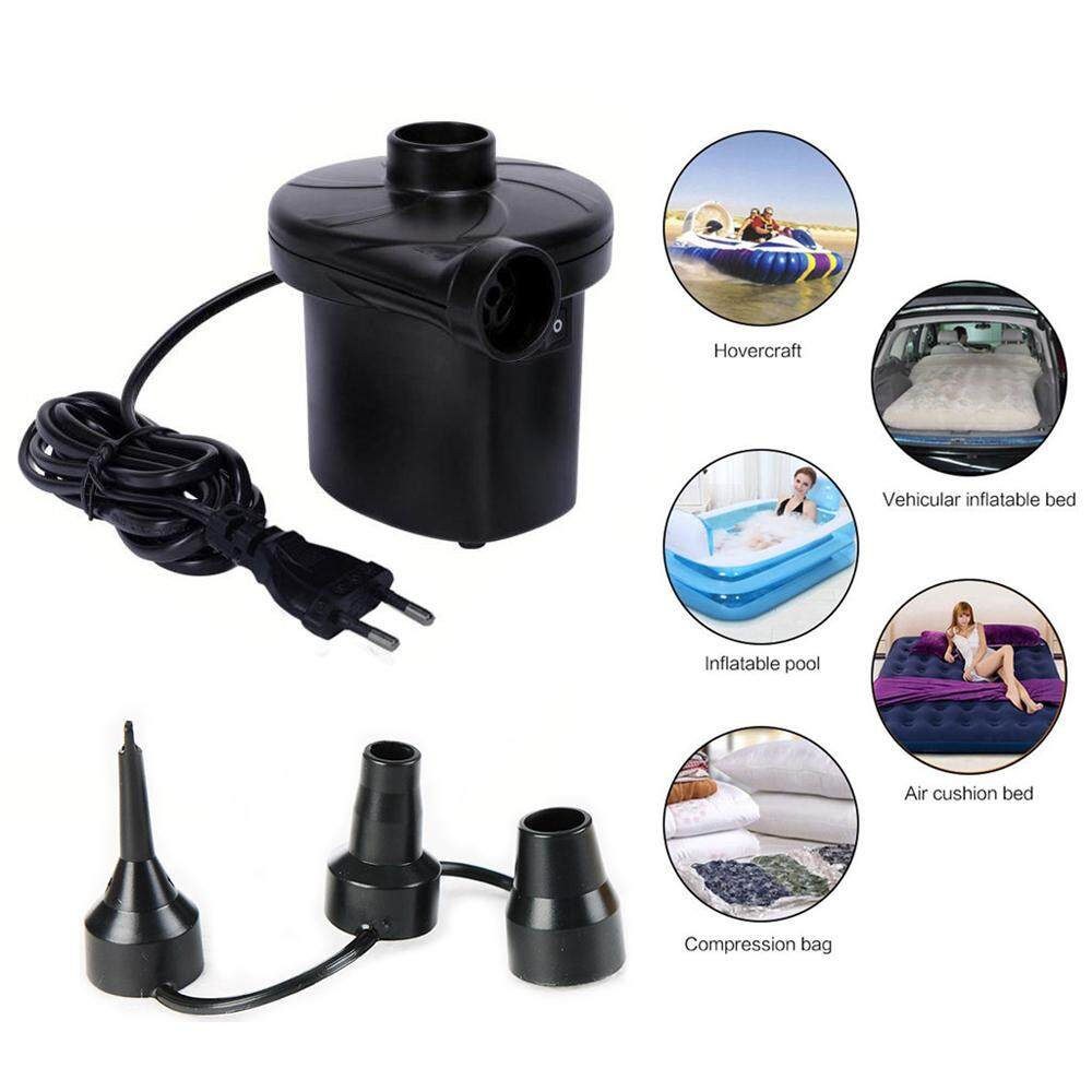 STERMAY Power AC Electric Air Pump Quick Inflate Deflate Pool Bed Toys Bags Mattress Inflator Deflator