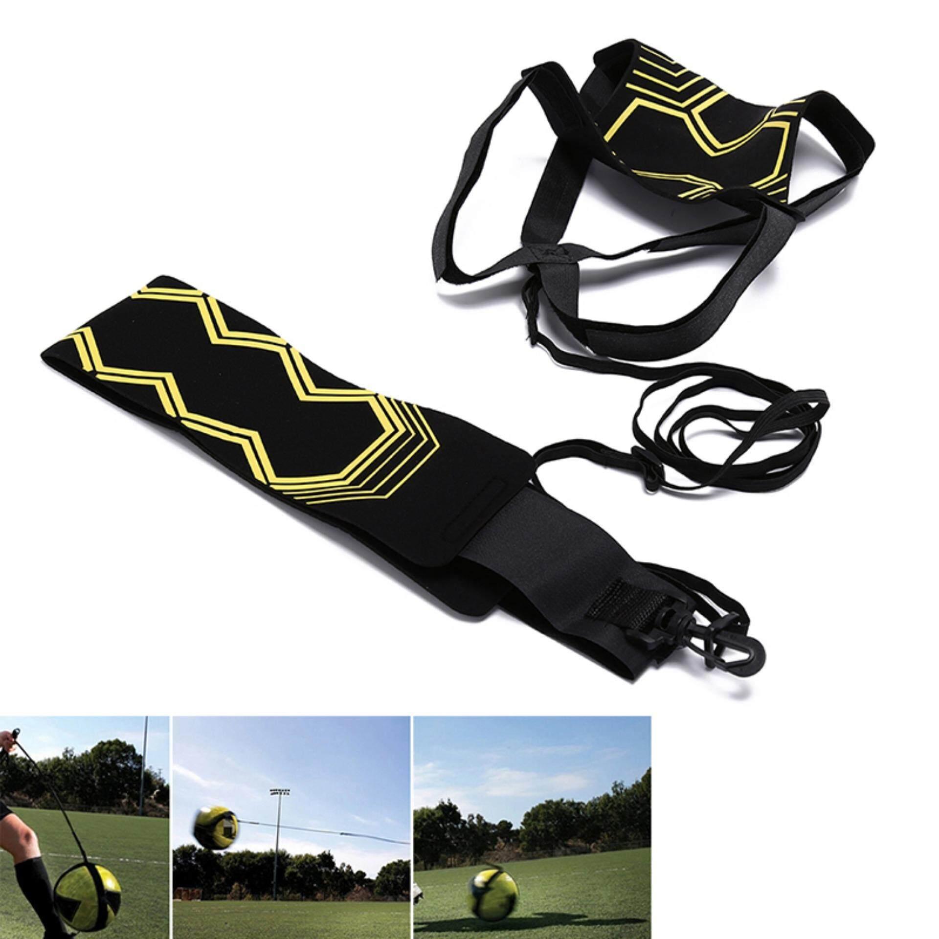 Hình ảnh Adjustable Soccer Trainer Belt Soccer Ball Training Equipment Kick Practice Yellow & Black 6m - intl