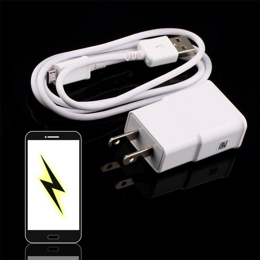 OSMAN US Plug Wall Charger + USB Data Cable for SamSung Galaxy Note2 II N7100 S4 S3 - intl