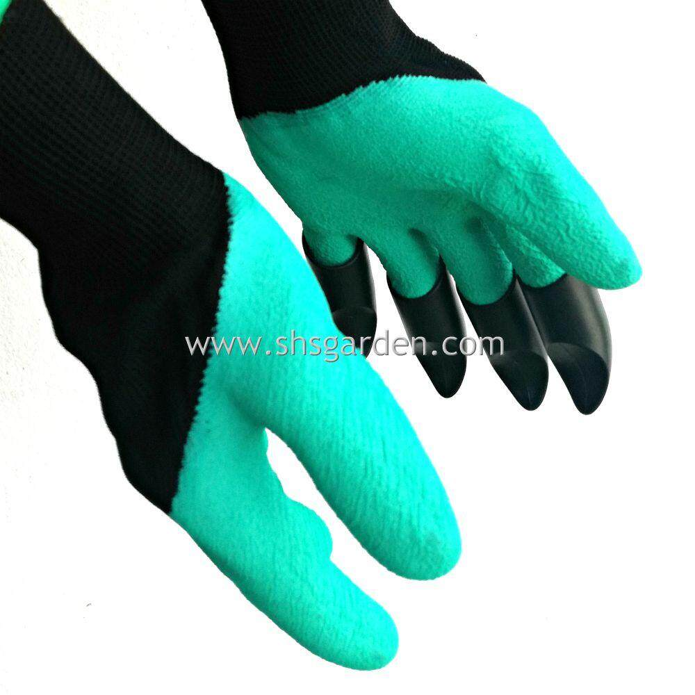 Gardening Gloves with ABS Claws (Left-hand Claws) for Left-handers