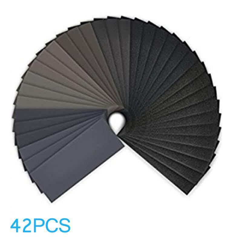 ABH 42 Sheets Sandpaper Waterproof Abrasive Grinding Polish Tool 120#-3000# - intl
