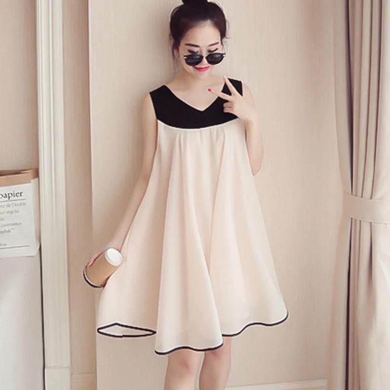 Maternity Dress Summer Chiffon Sleeveless Pregnant Women Clothing Maternity  Waer 6085a75155