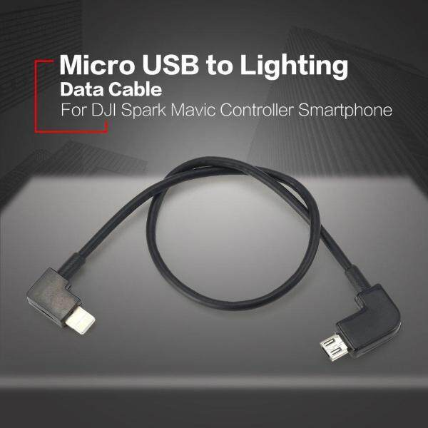 Micro USB to Lighting Data Cable Line For DJI Spark Mavic Controller iPhone
