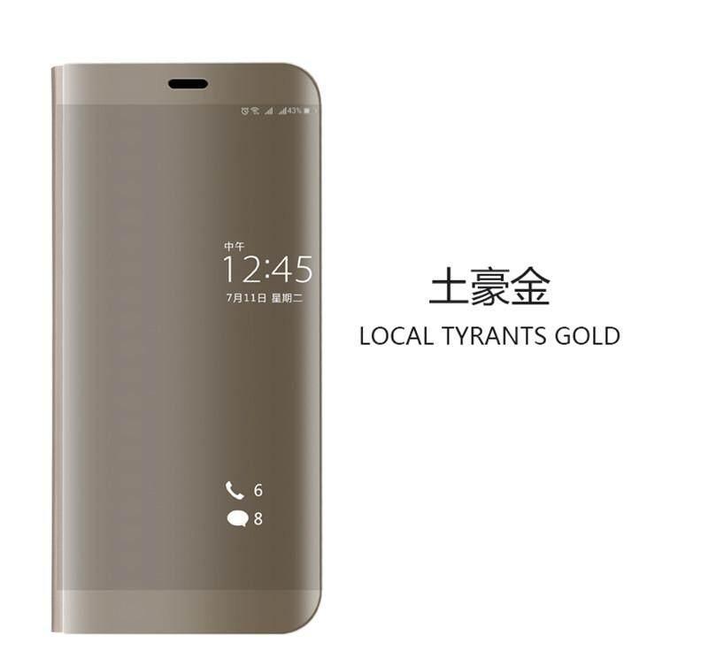 Untuk Huawei Nova 2i Cermin Smart Fungsi Flip PU Case Kulit 5.9 Inch