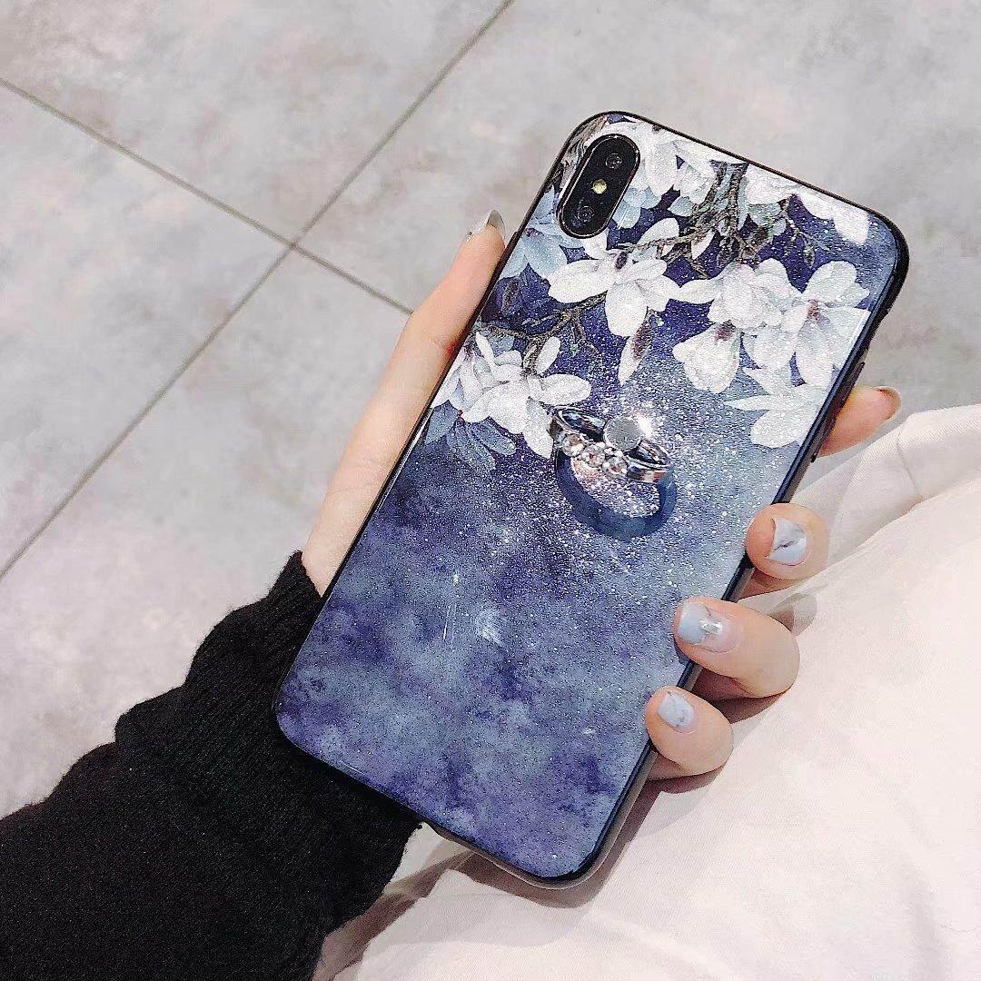 Detail Gambar Untuk Vivo Y71 GLITTER BUNGA Berkilau Silikon Cincin TPU Case Shockproof Kembali Casing Kover Terbaru