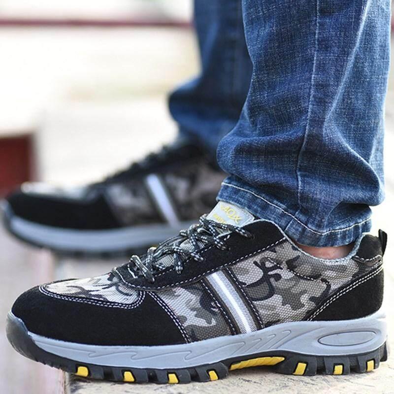 Detail Gambar MENTEE Plus Size 37-46 Men Safety Shoes Anti-smashing Anti-